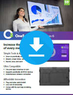 OneScreen Touchscreen 6 Sales Sheet