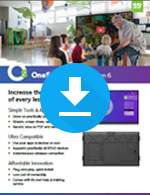 OneScreen Touchscreen 6 for Education Sales Sheet